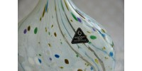 Vase en verre d'art marqué Isle of Wight