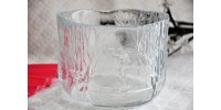 Kosta Boda Clear Glass Bowl by Designer Kjell Engman