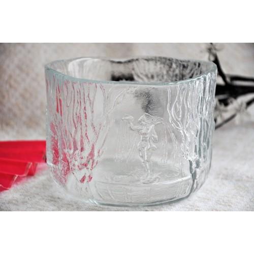 Kosta Boda Clear Glass Bowl by Designer Kjell Engman