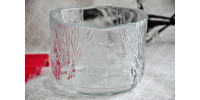 Bol en cristal de Kjell Engman pour Kosta Boda