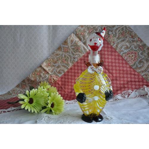 Original Murano Blown Glass Clown Carafe