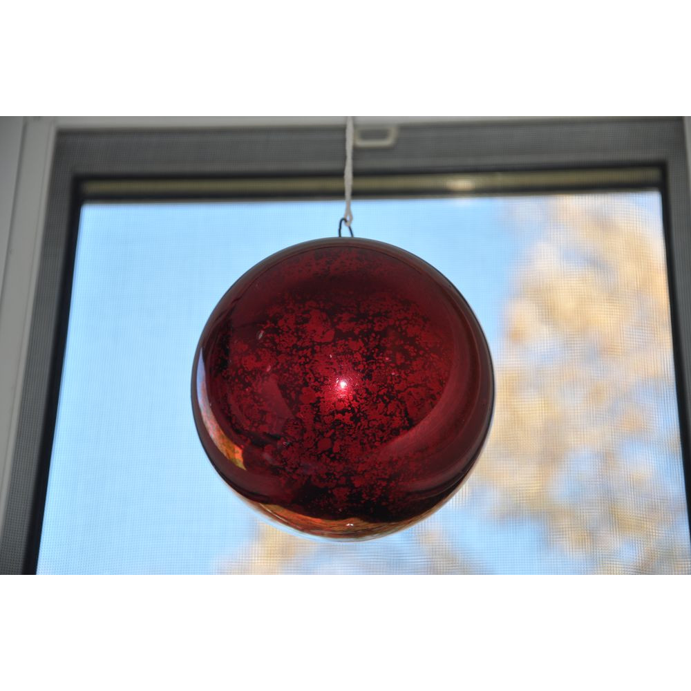 Friendship ball ornament -  Large Victorian Glass Kugel Christmas Ornament