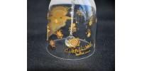 Clochette en cristal Rosenthal à motif d'ange doré
