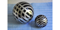 Paire de boules de Noël victoriennes en verre ou Kugels