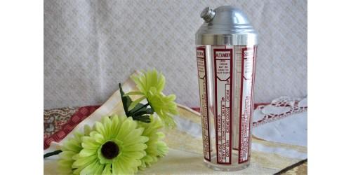 Shaker en verre vintage années 1950