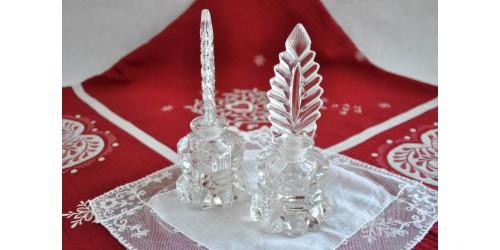 Spectaculaire paire de parfumeuses L. E. Smith
