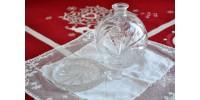 Parfumeuse Pinwheel en verre taillé