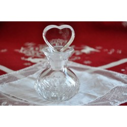 Heart Shaped Stopper Clear Crystal Perfume Bottle