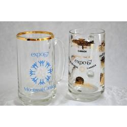 Souvenir Beer Mugs from 1967 Montreal Canada World Fair