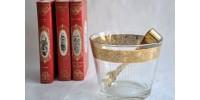 Seau à glace Culver à décor doré et gravé en relief