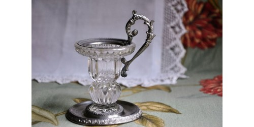Antique Ring Handle Chamber Candle Holder