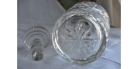 Carafe années 20 en verre taillé