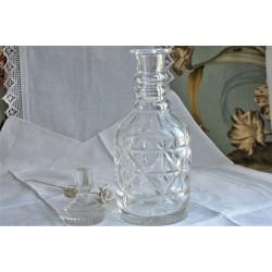Antique Cut Glass 3-Rings Decanter c1920