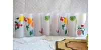 Ensemble coloré de verres à cocktails Federal Glass