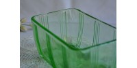 Récipient à frigo en verre uranium Hazel Atlas