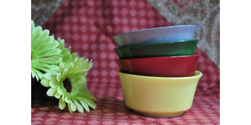 Hazel Atlas Platonite Ovide Bowl Set