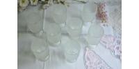 Verres à pied texturés Crystal Ice de Indiana Glass