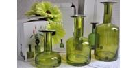 Bougeoirs design suédois en verre soufflé