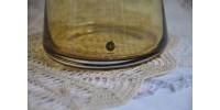 Carafe design suédoise en verre soufflé ambré