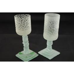SLEEMAN Brewery Handmade Signed Footed Glasses
