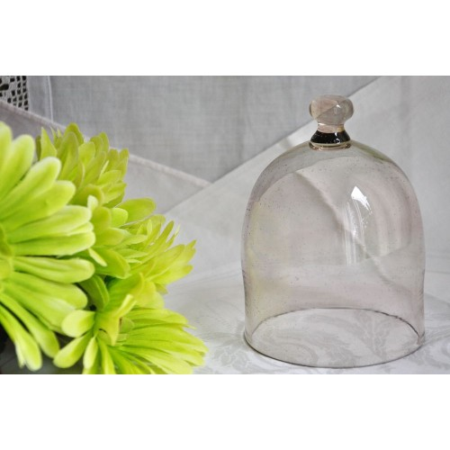 Small Mouth Blown Glass Dome Bell