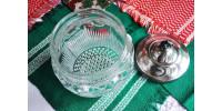 Pot à biscuits ou bonbons U.S. Glass modèle Manhattan