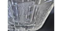 Vase ovale en verre d'art d'époque Art déco