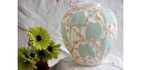 Vase Lovebirds de Consolidated Glass