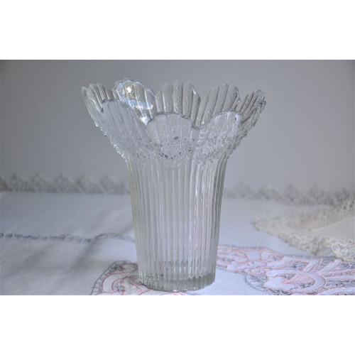 Finnish Textured Art Glass Petal Shaped Vase