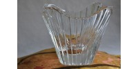 Vase d'art Orrefors en cristal signé