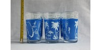 6 Vintage Drinking Glasses Marked Florida The Sunshine State