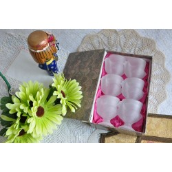 Hen Shaped Frosted Glass Egg Cups or Holders