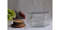 Pot hexagonal vintage à couvercle de bois