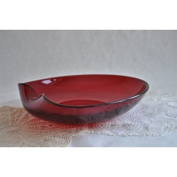 Decorative Hand Crafted Red Glass Charger